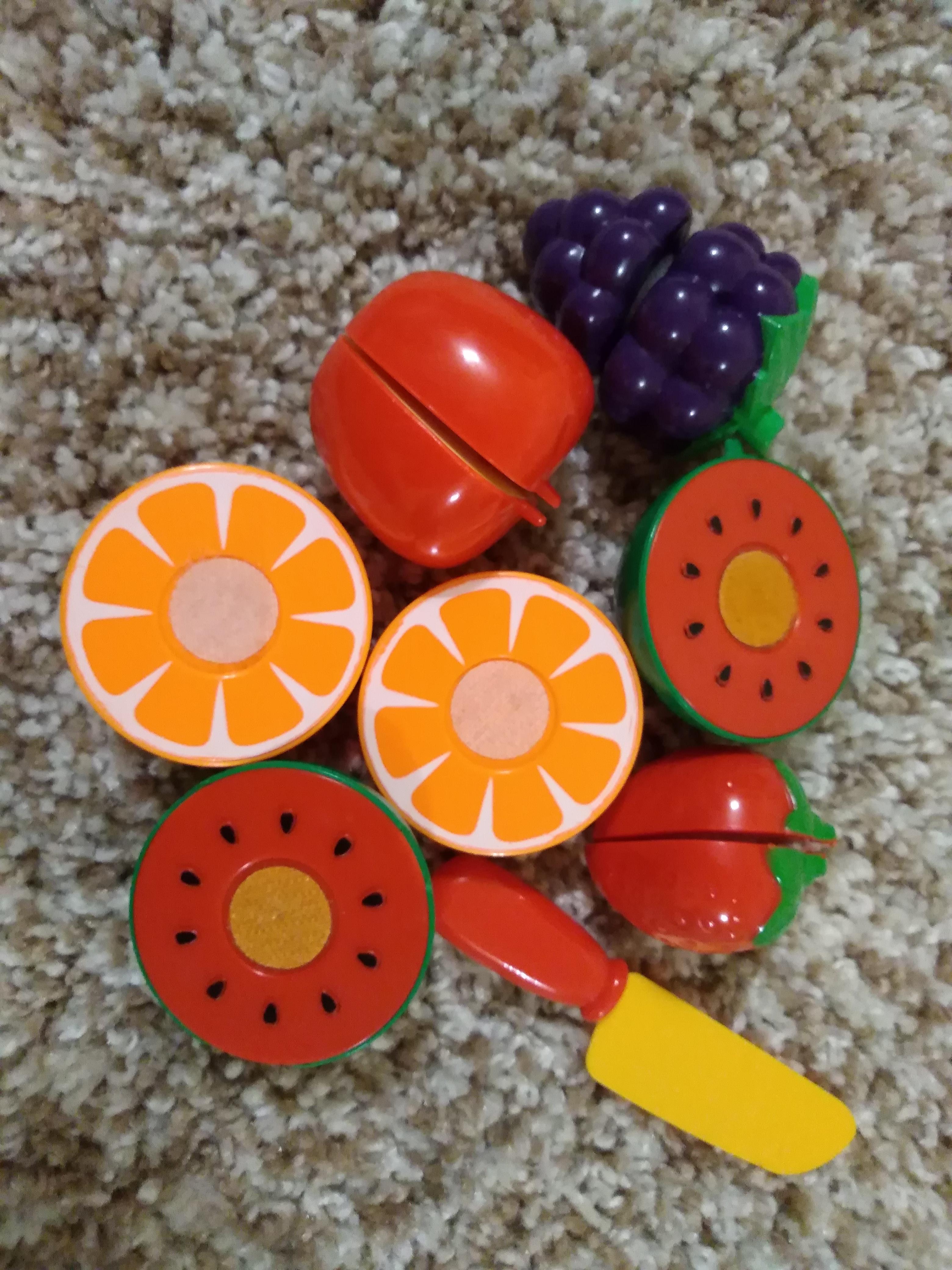 Фрукты на липучках для детей