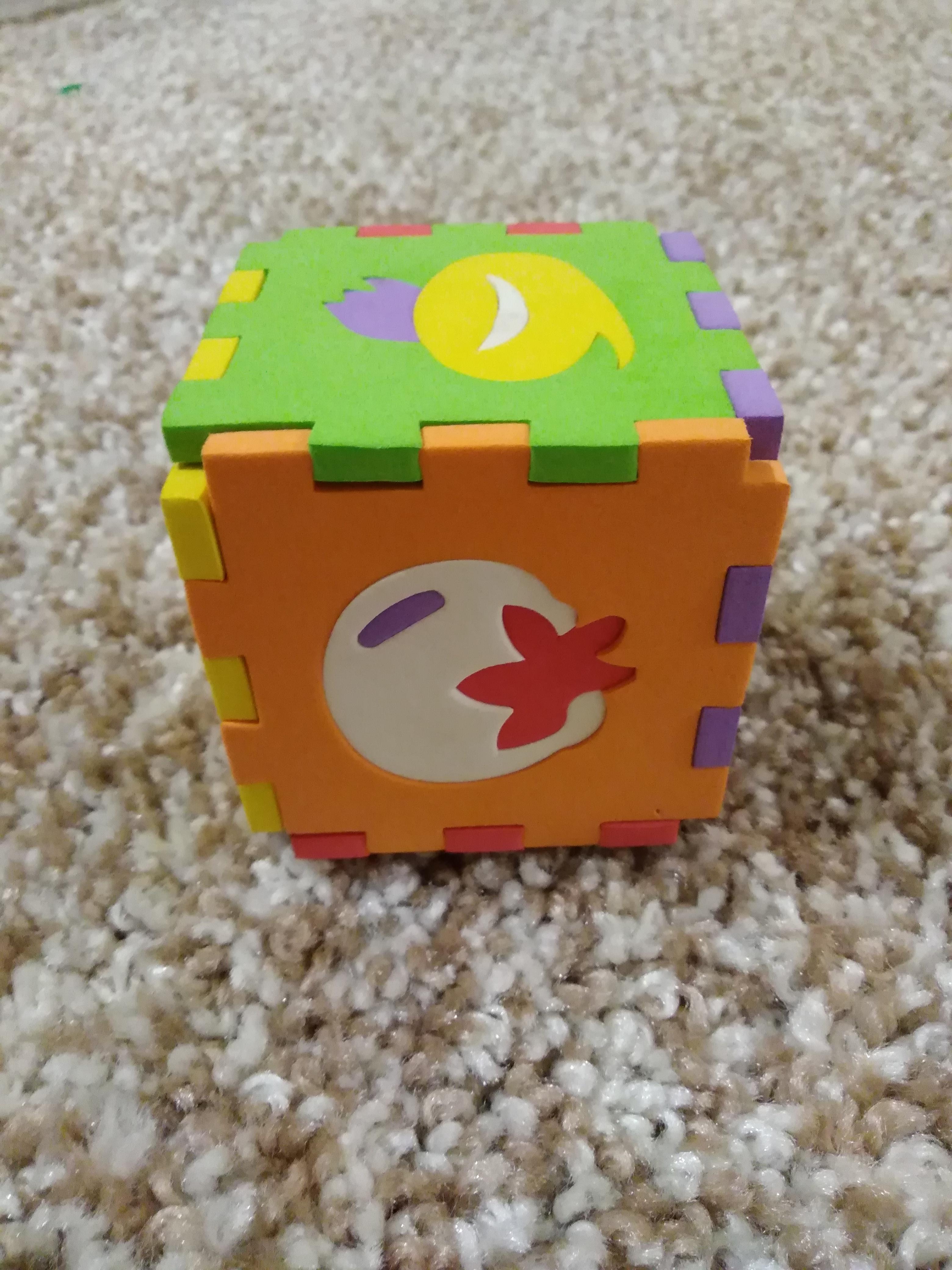 Развивающий кубик пазл